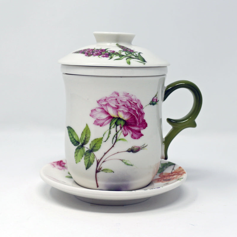 Dahlia Infuser Cup w/Saucer