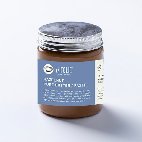 Pure hazelnut butter