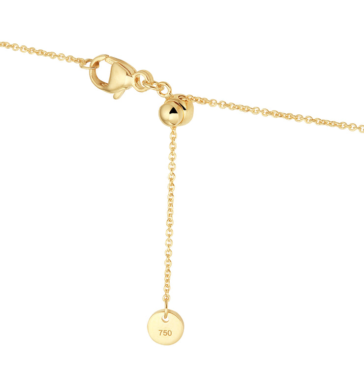Adjustable Solid Gold Necklace Chain in 18 Karat Yellow Gold - 50 CM