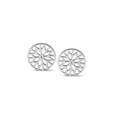 Signature Culet Earrings in White Gold