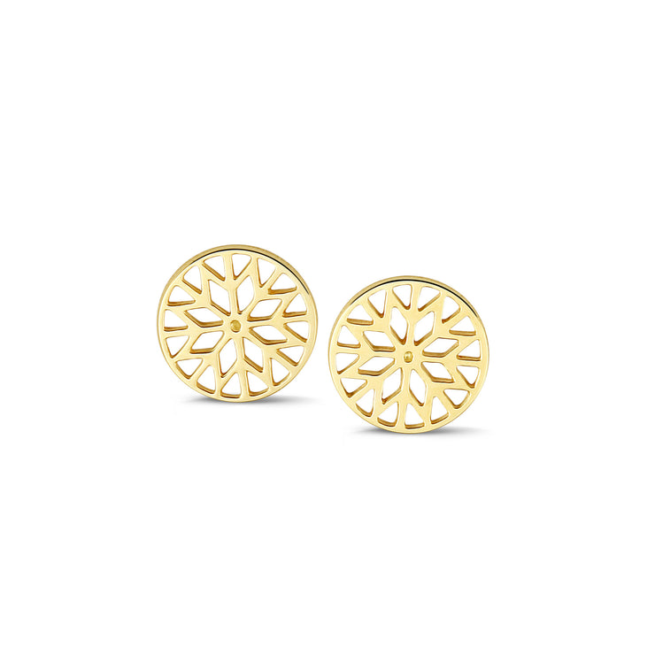 Signature Culet Earrings in Yellow Gold