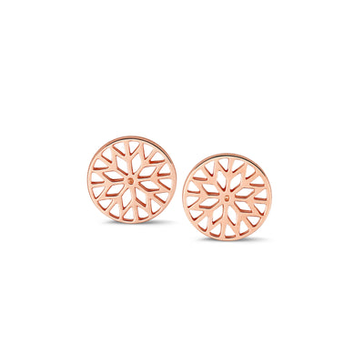 Signature Culet Earrings in Rose Gold