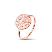Signature Culet Ring in Rose Gold