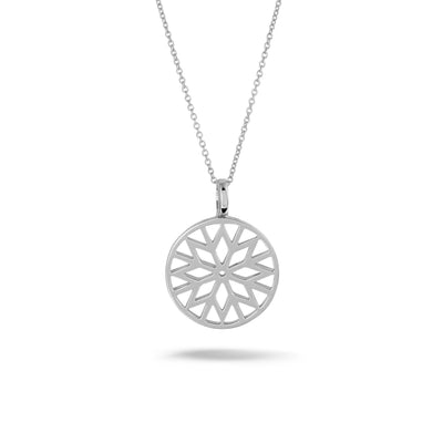 Signature Culet Pendant in White Gold