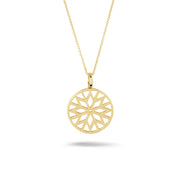 Signature Culet Pendant in Yellow Gold