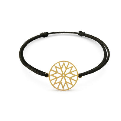 Signature Culet Bracelet in Yellow Gold with Cotton