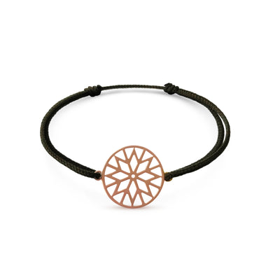 Signature Culet Bracelet in Rose Gold with Cotton