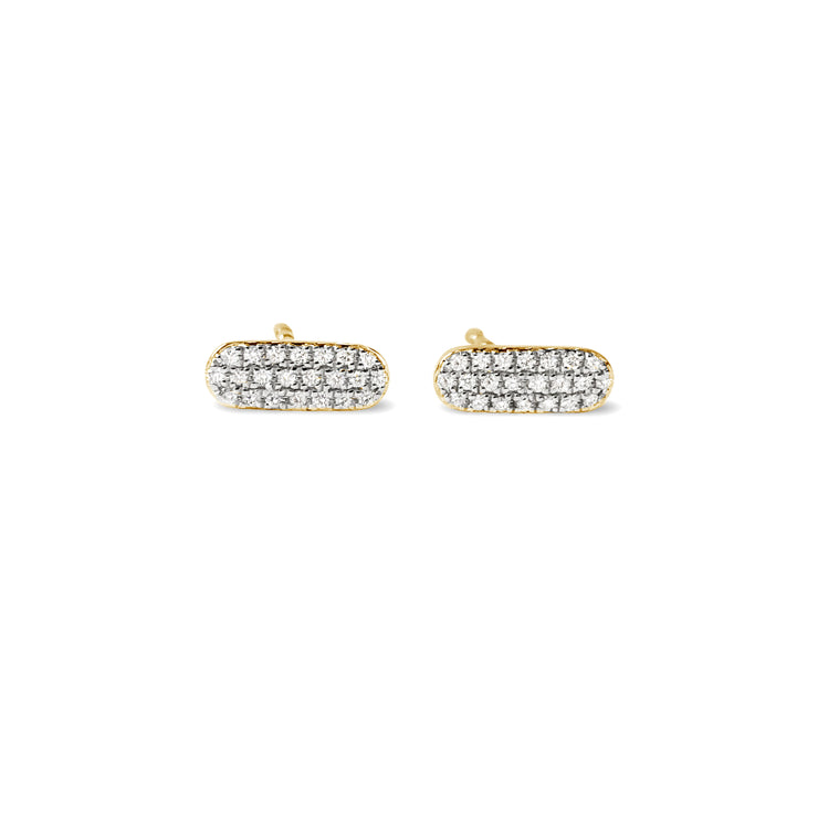 Circuit Earrings in Yellow Gold with Diamonds