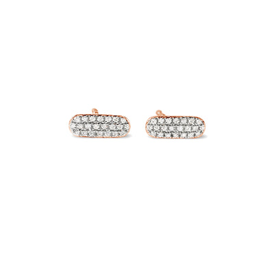 Circuit Earrings in Rose Gold with Diamond