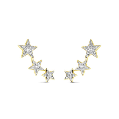 Constellation Earrings in Yellow Gold with Diamond