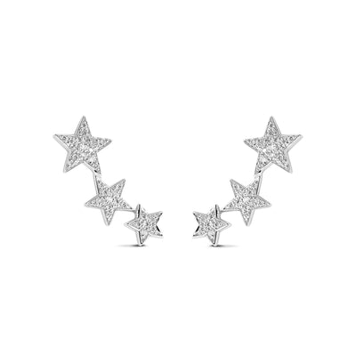 Constellation Earrings in White Gold with Diamond