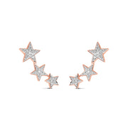 Constellation Earrings in Rose Gold with Diamonds