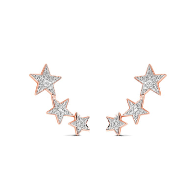 Constellation Earrings in Rose Gold with Diamond