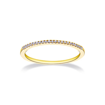 Near Eternity Stackable Ring in Yellow Gold with Diamonds
