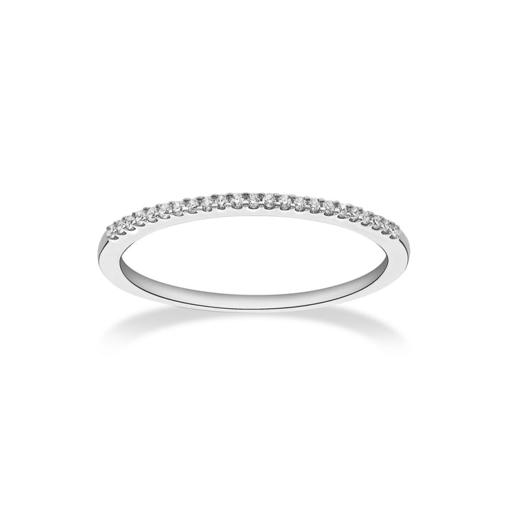 Near Eternity Stackable Ring in White Gold with Diamonds