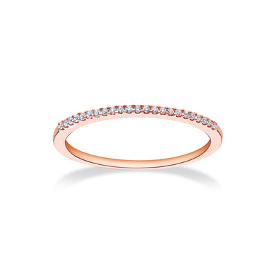 Near Eternity Stackable Ring in Rose Gold with Diamond
