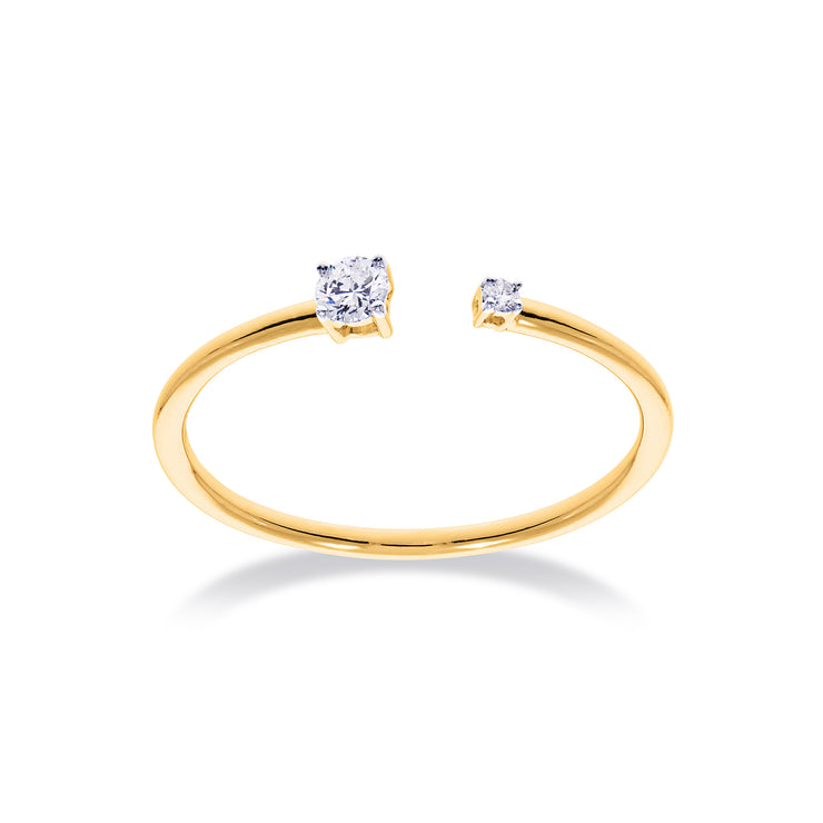 The Duplicity Ring in Yellow Gold with Diamond