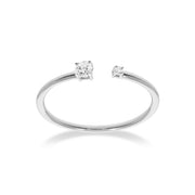 The Duplicity Ring in White Gold with Diamond