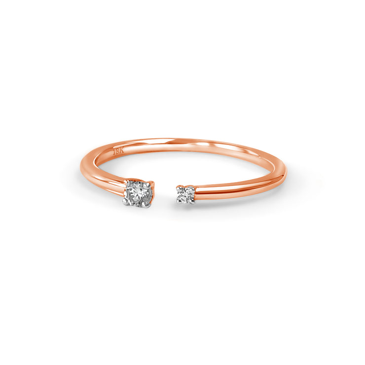 The Duplicity Ring in Rose Gold with Diamond