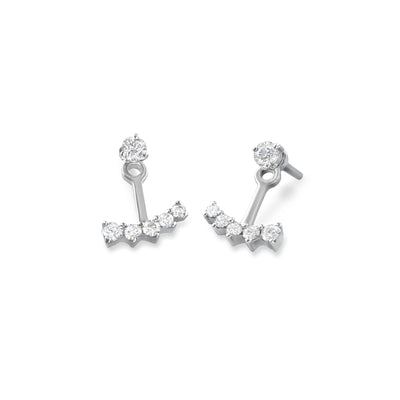 Anchor Earrings in White Gold with Diamonds