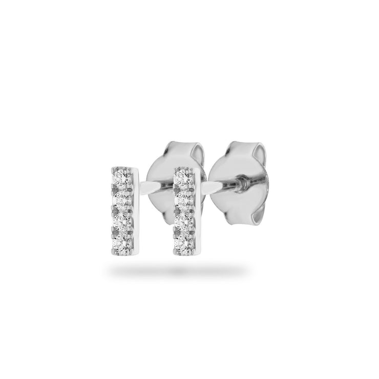 Rod Earrings in White Gold with Diamonds