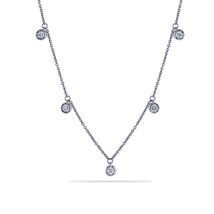 Dots Necklace in White Gold with Diamonds