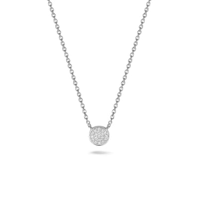 Circle Necklace in White Gold with Diamonds