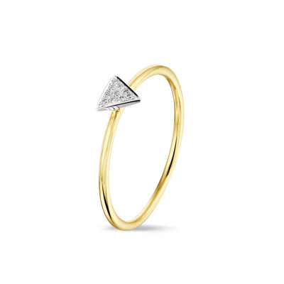 Triangle Stackable Ring in Yellow Gold with Diamond