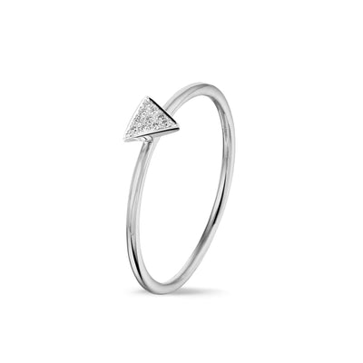 Triangle Stackable Ring in White Gold with Diamond