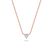 Triangle Necklace in Rose Gold with Diamond