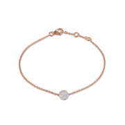 Circle Bracelet in Rose Gold with Diamonds
