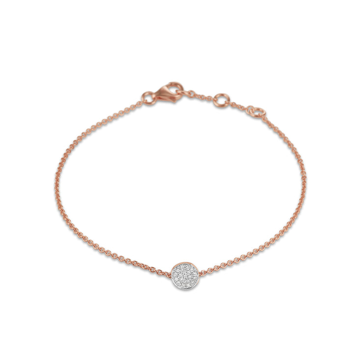 Circle Bracelet in Rose Gold with Diamond