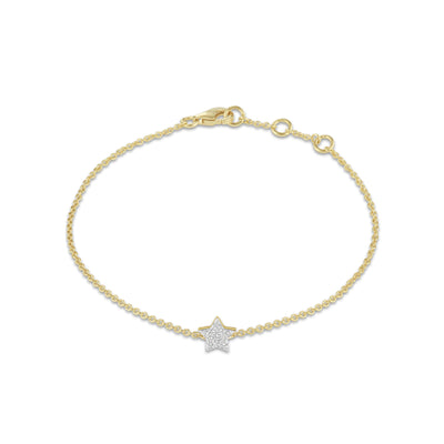 Star Bracelet in Yellow Gold with Diamond