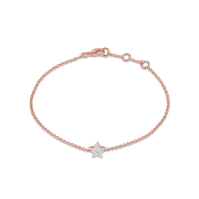 Star Bracelet in Rose Gold with Diamond