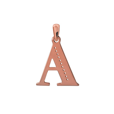 Uppercase Initial Pendant in Rose Gold A