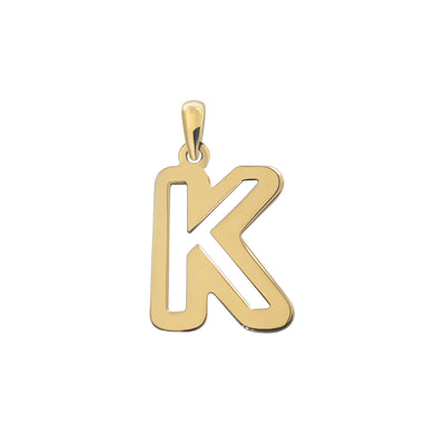 Uppercase Initial Pendant in Yellow Gold K