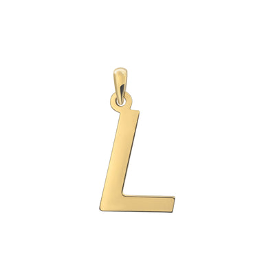 Uppercase Initial Pendant in Yellow Gold L