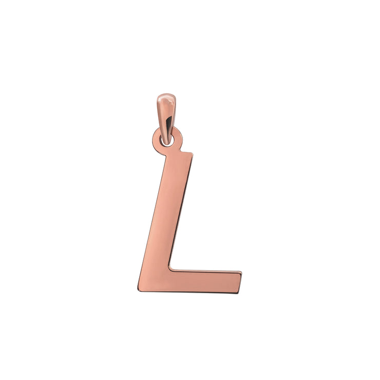 Uppercase Initial Pendant in Rose Gold