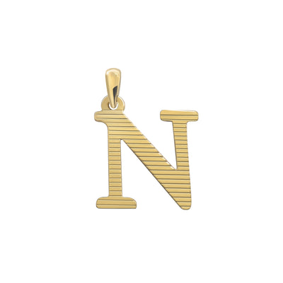 Uppercase Initial Pendant in Yellow Gold N