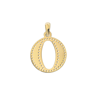Uppercase Initial Pendant in Yellow Gold O