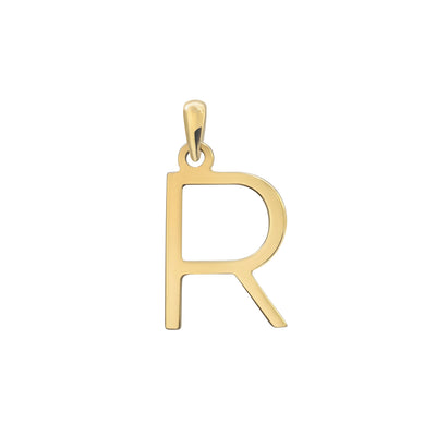 Uppercase Initial Pendant in Yellow Gold R
