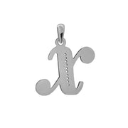 Uppercase Initial Pendant in White Gold