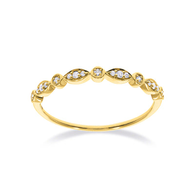 Stackable Situation Ring in Yellow Gold with Diamond