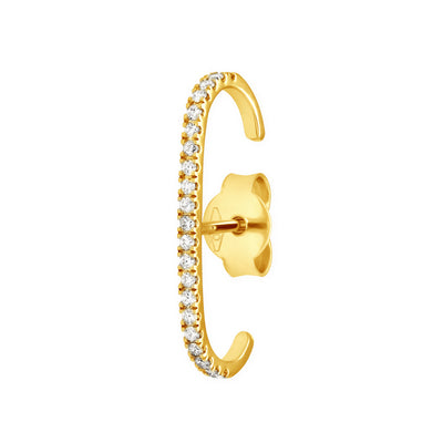 Eternity Ear Cuff in Yellow Gold with Diamonds