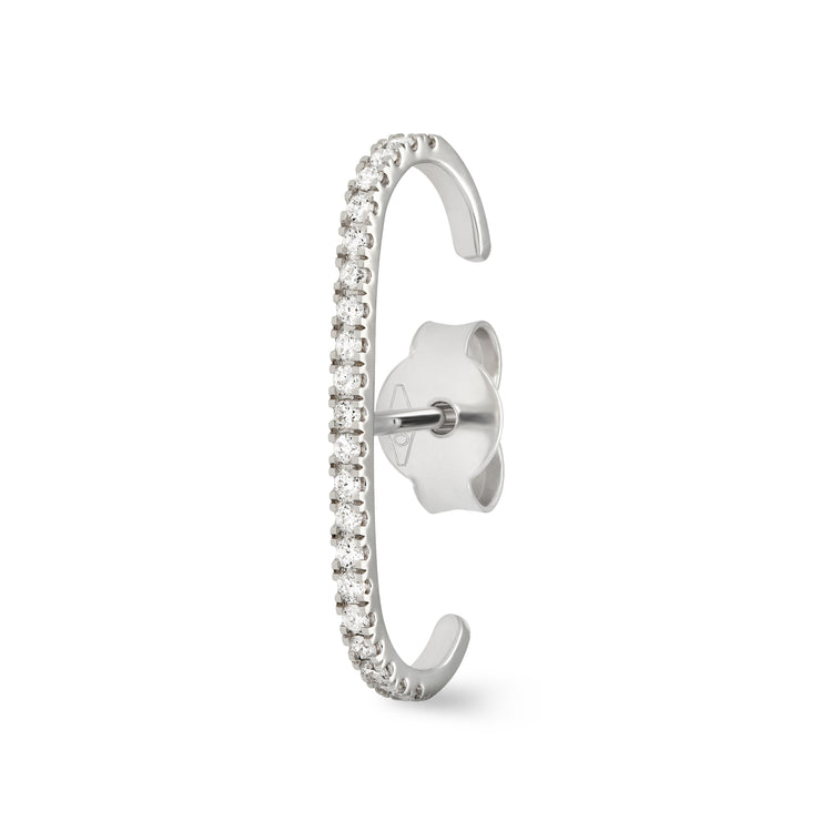 Eternity Ear Cuff in White Gold with Diamonds