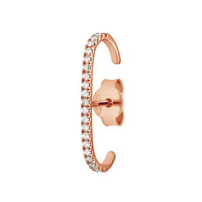 Eternity Ear Cuff in Rose Gold with Diamonds