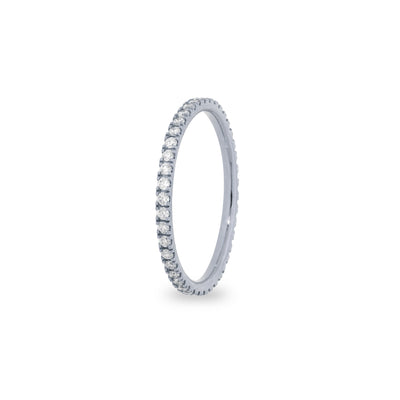 Eternity stapelbare ring in witgoud met diamanten