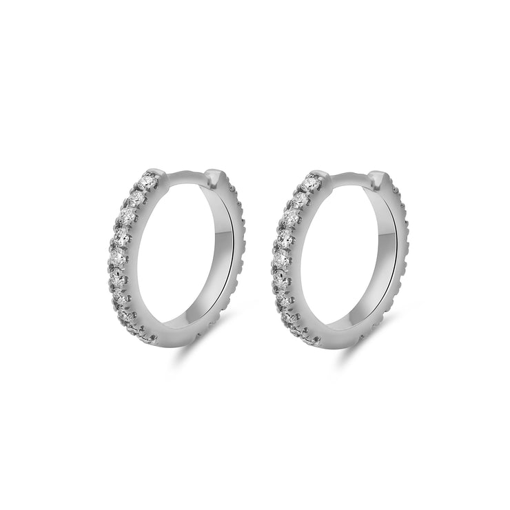Eternity Maxi Huggies in White Gold with Diamonds