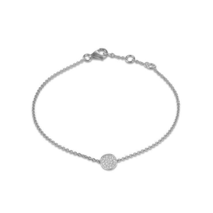 Circle Bracelet in White Gold with Diamond