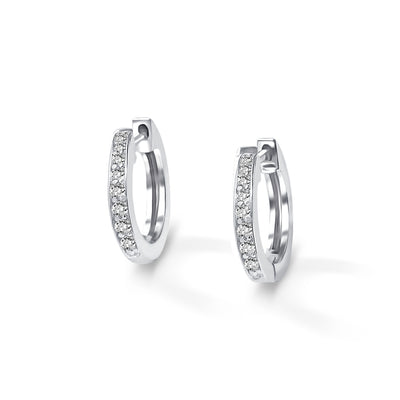 Halo Earrings in White Gold with Diamond